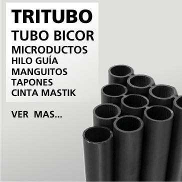 Tritubo, tubo bicor, microductos, hilo guia, manguitos, tapones, cinta mastik.
