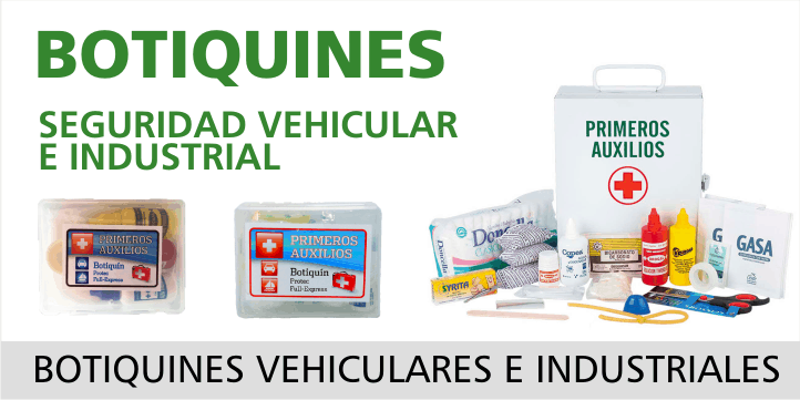 botiquines, seguridad vehicular e industrial