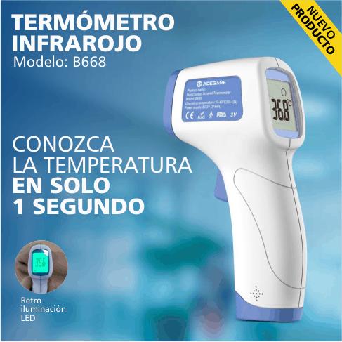 Termómetro infrarojo modelo B668